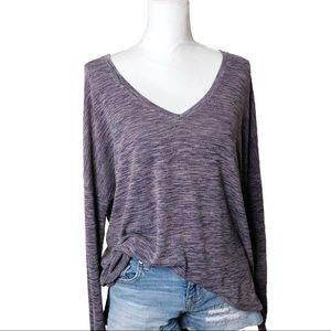 Rock & Republic Dolman Sleeve Tunic T Purple XL